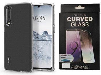 Etui SPIGEN LIQUID CRYSTAL HUAWEI P30 przezroczysty +szkło UV