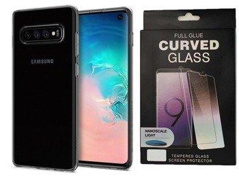 Etui Spigen LIQUID Crystal Samsung GALAXY S10 przezroczysty +szkło UV