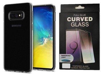 Etui Spigen LIQUID Crystal Samsung GALAXY S10e przezroczysty +szkło UV