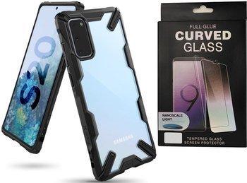 Etui pancerne RINGKE FUSION X Samsung Galaxy S20 BLACK +szkło UV
