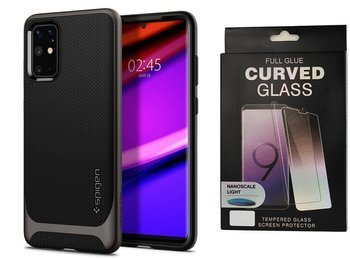 Etui pancerne SPIGEN NEO HYBRID Samsung Galaxy S20+ PLUS GUNMETAL +szkło UV