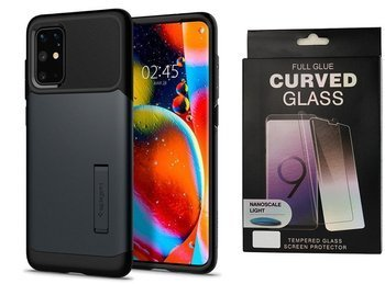 Etui pancerne SPIGEN SLIM ARMOR Samsung Galaxy S20+ PLUS METAL SLATE +szkło UV
