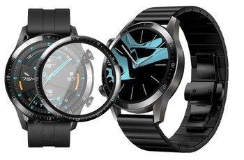 Opaska pasek bransoleta LINKBAND Huawei Watch GT 2 46MM czarna +szkło 3D