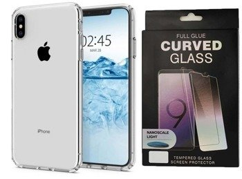 SPIGEN LIQUID CRYSTAL IPHONE XS MAX  CRYSTAL +szkło UV