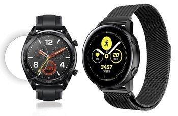 TECH-PROTECT MILANESE opaska pasek bransoleta BAND Huawei Watch GT Classic/Sport/Active 46mm BLACK +szkło hartowane na ekran