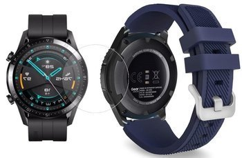 TECH-PROTECT SOFT opaska pasek bransoleta BAND Huawei Watch GT 2 46mm MIDNIGHT BLUE +szkło