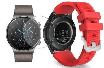 TECH-PROTECT SOFT opaska pasek bransoleta BAND Huawei Watch GT 2 PRO 46mm RED +szkło