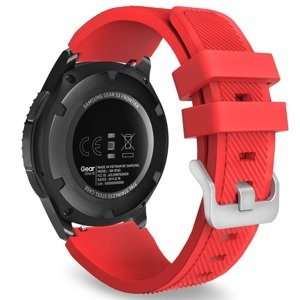 opaska pasek bransoleta (22mm) SOFTBAND Samsung GALAXY Gear S3 / GEAR S3 Frontier RED
