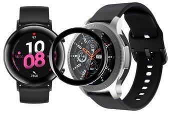 opaska pasek bransoleta GEARBAND Huawei Watch GT 2 42MM czarna + szkło 5D