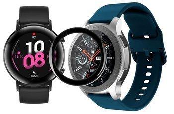 opaska pasek bransoleta GEARBAND Huawei Watch GT 2 42MM morska + szkło 5D