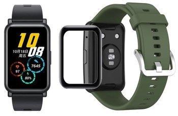 opaska pasek bransoleta SMOOTHBAND Huawei Watch FIT army green +szkło 5D