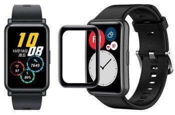 opaska pasek bransoleta SMOOTHBAND Huawei Watch FIT czarna +szkło 5D