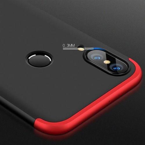 360 Protection etui na całą obudowę przód + tył Huawei P20 Lite czarno-czerwony