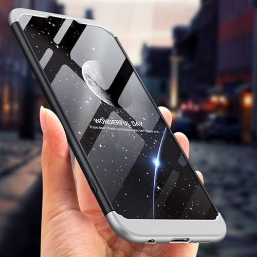360 Protection etui na całą obudowę przód + tył Huawei P20 Lite czerwony