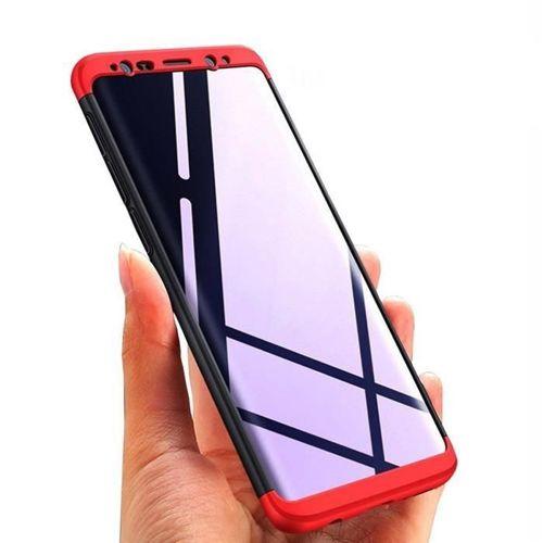 360 Protection etui na całą obudowę przód + tył Samsung Galaxy S9 G960 czarno-czerwony