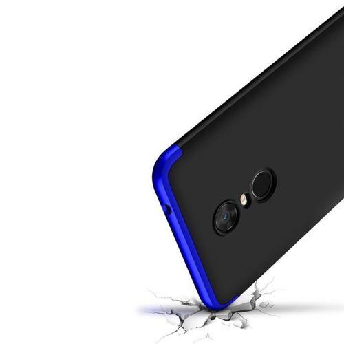 360 Protection etui na całą obudowę przód + tył Xiaomi Redmi 5 Plus / Redmi Note 5 (single camera) czarno-czerwony