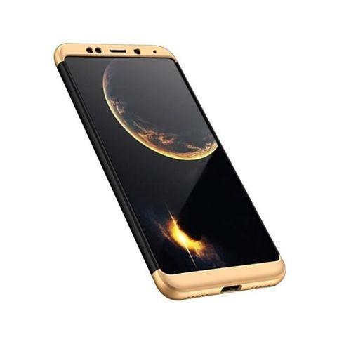 360 Protection etui na całą obudowę przód + tył Xiaomi Redmi 5 Plus / Redmi Note 5 (single camera) czarno-złoty
