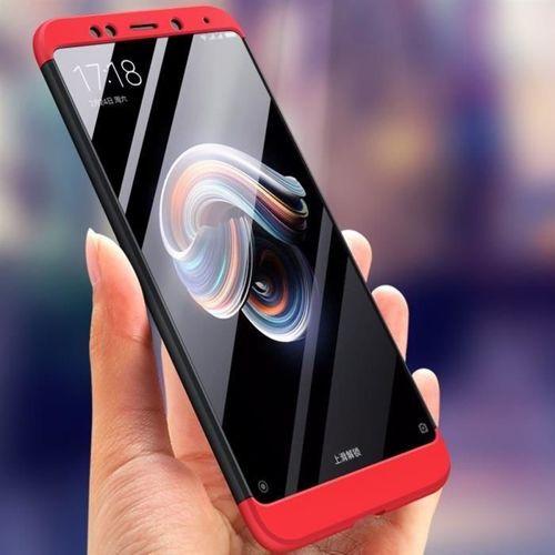 360 Protection etui na całą obudowę przód + tył Xiaomi Redmi Note 5 (dual camera) / Redmi Note 5 Pro czarno-czerwony