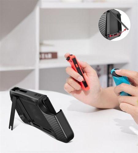 Baseus SW żelowe elastyczne pancerne etui na Nintendo Switch z wycięciami na pady czarny (WISWGS02-01)