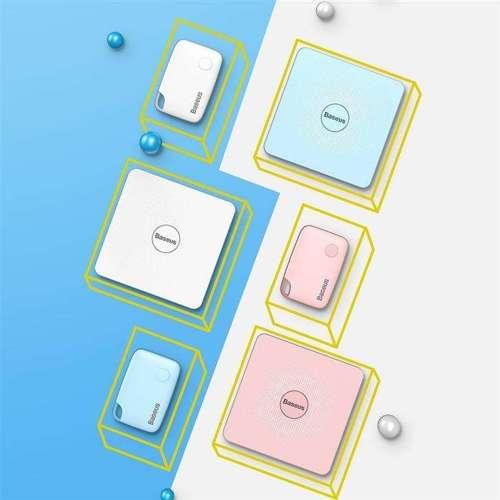 Baseus T1 płaski mini bezprzewodowy lokalizator do kluczy i innych przedmiotów biały (ZLFDQT1-02)