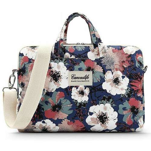 CANVASLIFE Torba na laptopa BRIEFCASE MACBOOK AIR/PRO 13 BLUE CAMELLIA