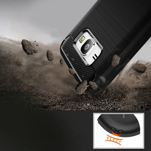 Carbon Case elastyczne etui pokrowiec LG K10 2017 M250 czarny