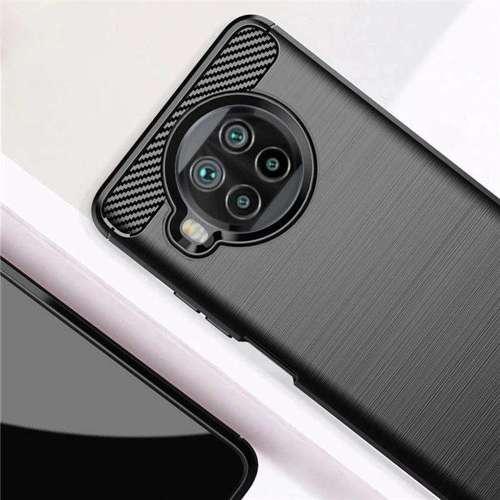 Carbon Case elastyczne etui pokrowiec Xiaomi Mi 10T Lite czarny