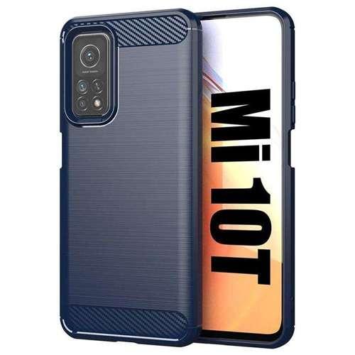 Carbon Case elastyczne etui pokrowiec Xiaomi Mi 10T Pro / Xiaomi Mi 10T niebieski