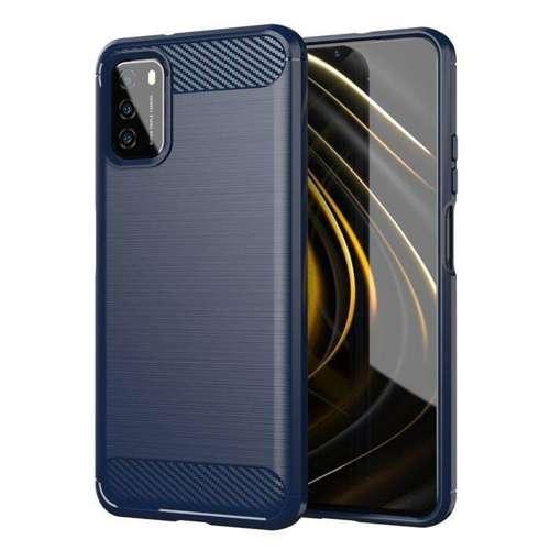 Carbon Case elastyczne etui pokrowiec Xiaomi Poco M3 / Xiaomi Redmi 9T niebieski