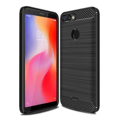 Carbon Case elastyczne etui pokrowiec Xiaomi Redmi 6 czarny