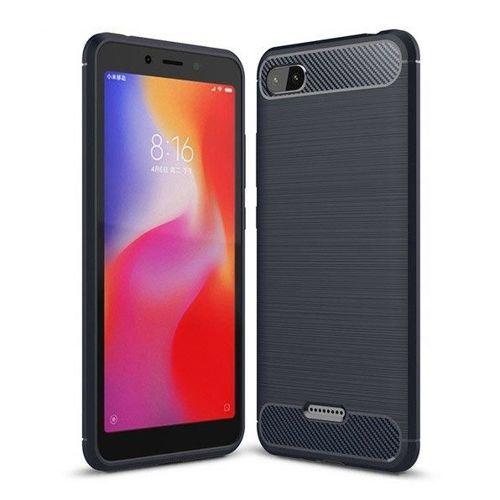 Carbon Case elastyczne etui pokrowiec Xiaomi Redmi 6A niebieski