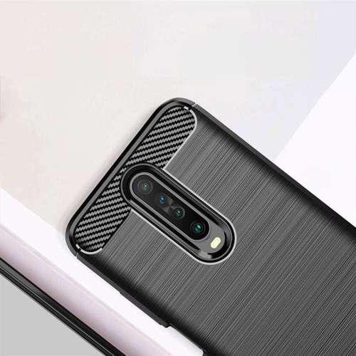 Carbon Case elastyczne etui pokrowiec Xiaomi Redmi K30 czarny