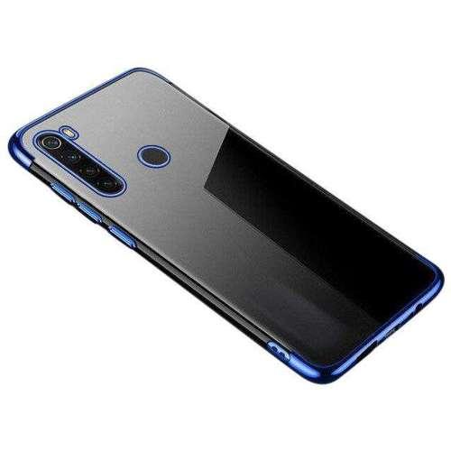 Clear Color case żelowy pokrowiec etui z metaliczną ramką Motorola G8 Plus niebieski
