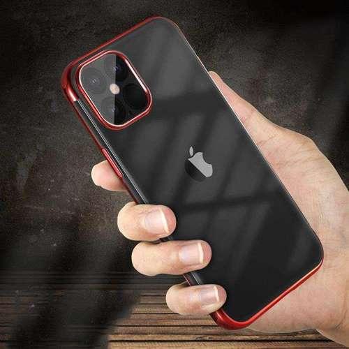 Clear Color case żelowy pokrowiec etui z metaliczną ramką Xiaomi Mi 10T Lite niebieski