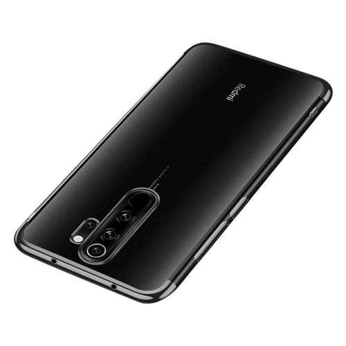 Clear Color case żelowy pokrowiec etui z metaliczną ramką Xiaomi Redmi 9 czarny