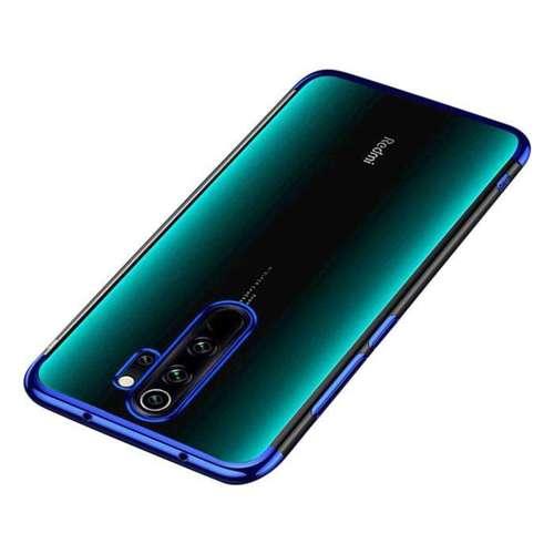 Clear Color case żelowy pokrowiec etui z metaliczną ramką Xiaomi Redmi 9 niebieski