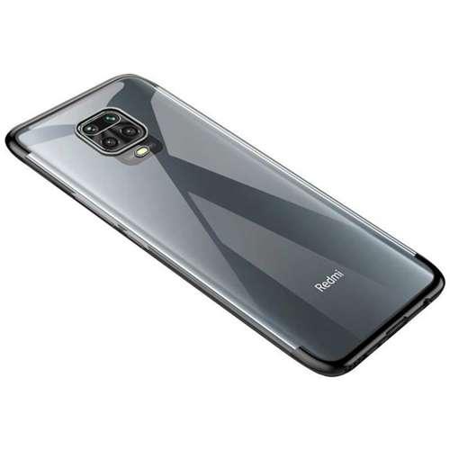 Clear Color case żelowy pokrowiec etui z metaliczną ramką Xiaomi Redmi Note 9 Pro / Redmi Note 9S czarny