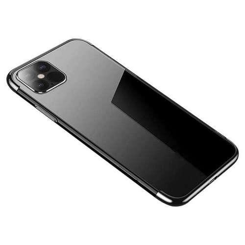 Clear Color case żelowy pokrowiec etui z metaliczną ramką iPhone 12 Pro Max czarny