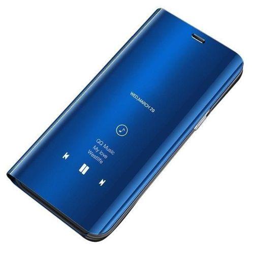 Clear View Case futerał etui z klapką Huawei Mate 20 Lite niebieski