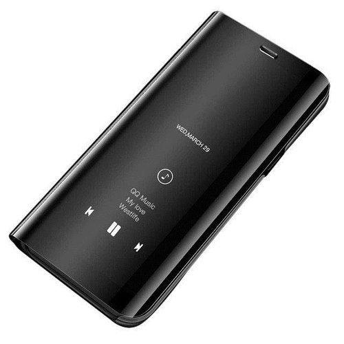 Clear View Case futerał etui z klapką Huawei P Smart 2019 czarny