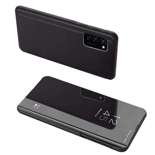 Clear View Case futerał etui z klapką Huawei P Smart 2021 czarny