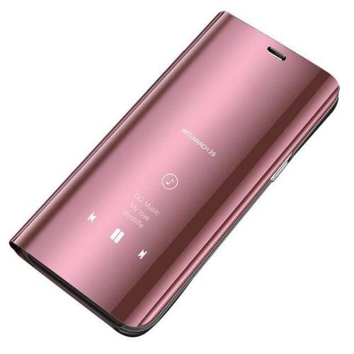 Clear View Case futerał etui z klapką Huawei P20 Lite różowy