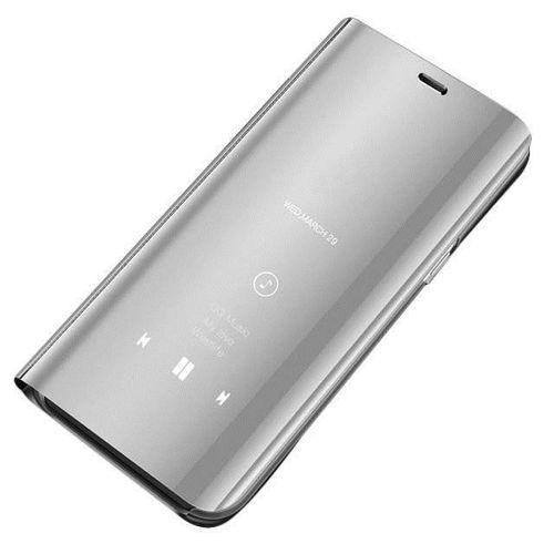 Clear View Case futerał etui z klapką Huawei P30 Lite srebrny