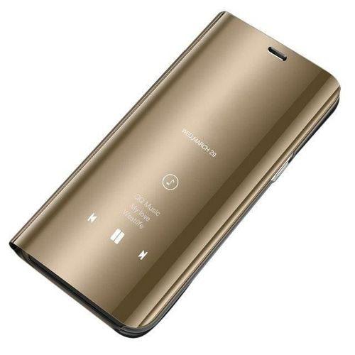 Clear View Case futerał etui z klapką Huawei P30 Pro złoty