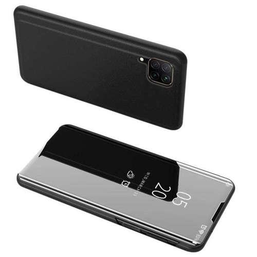 Clear View Case futerał etui z klapką Huawei P40 Lite / Nova 7i / Nova 6 SE czarny