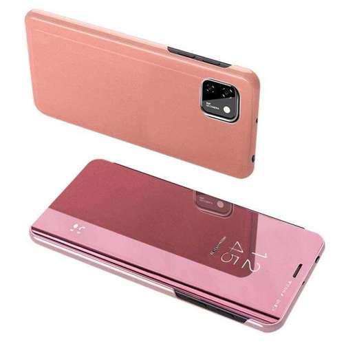 Clear View Case futerał etui z klapką Huawei Y5p różowy