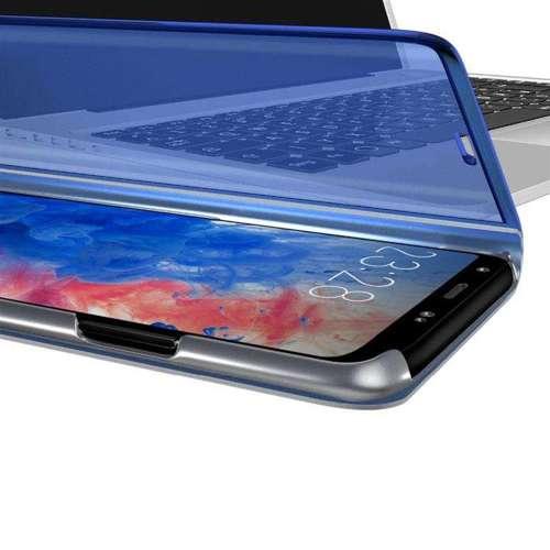Clear View Case futerał etui z klapką Samsung Galaxy S20 srebrny