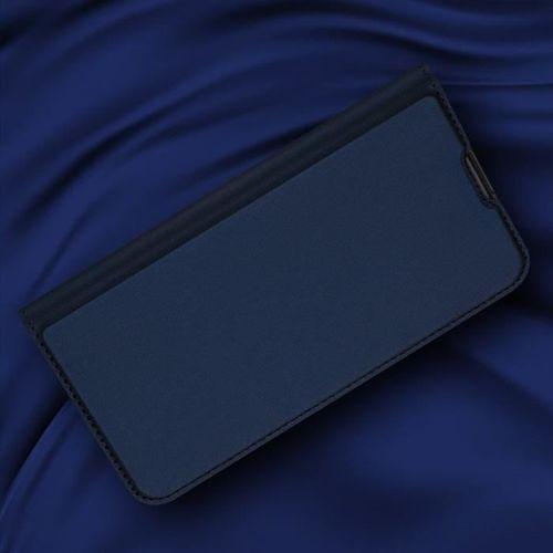 DUX DUCIS Skin Pro kabura etui pokrowiec z klapką Motorola One Macro niebieski