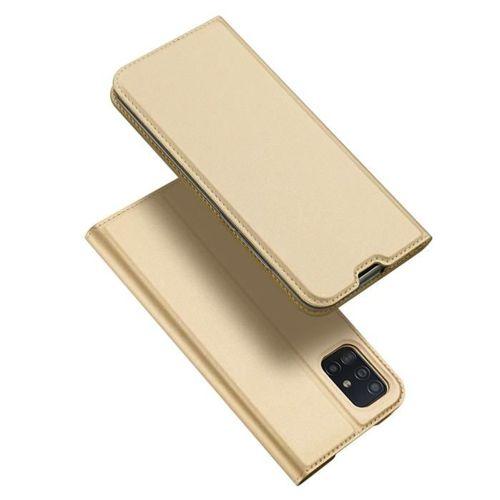 DUX DUCIS Skin Pro kabura etui pokrowiec z klapką Samsung Galaxy A51 złoty