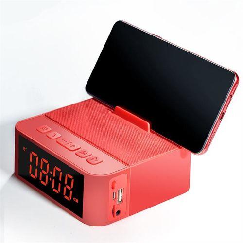Dudao bezprzewodowy głośnik z AUX zegarek, radio FM i budzik + czytnik kart micro SD czarny (Y5 black)